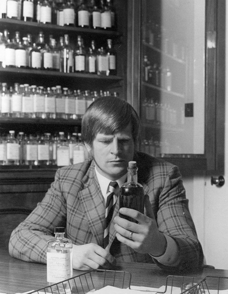 In my office at The World Famous Laphroaig Distillery - Isle of Islay in May 1970